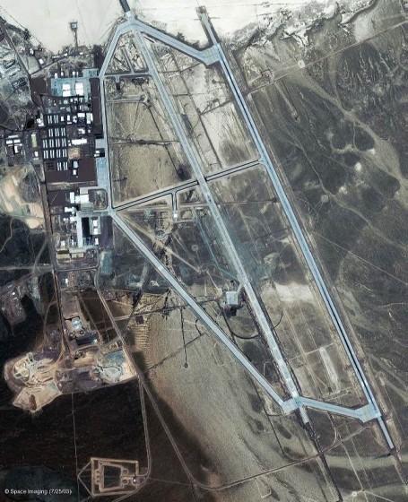 Зона 51, фото со спутника