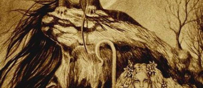 Морена, богиня смерти, и Моровая дева Чума