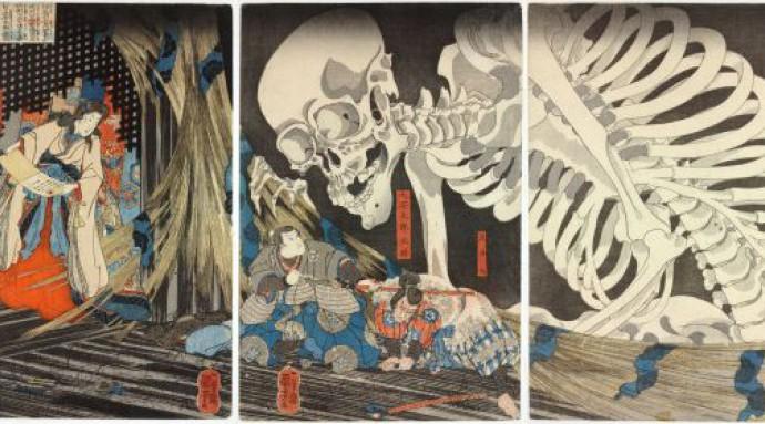 Семихвостые кицунэ Утагавы Куниёси