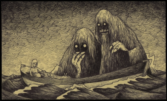a creative scary story about monsters
