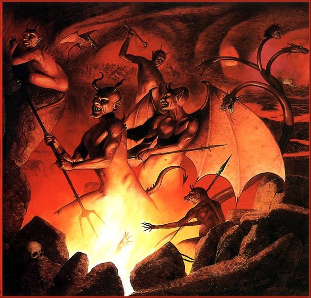 Охуительная порнуха демон в аду трахается