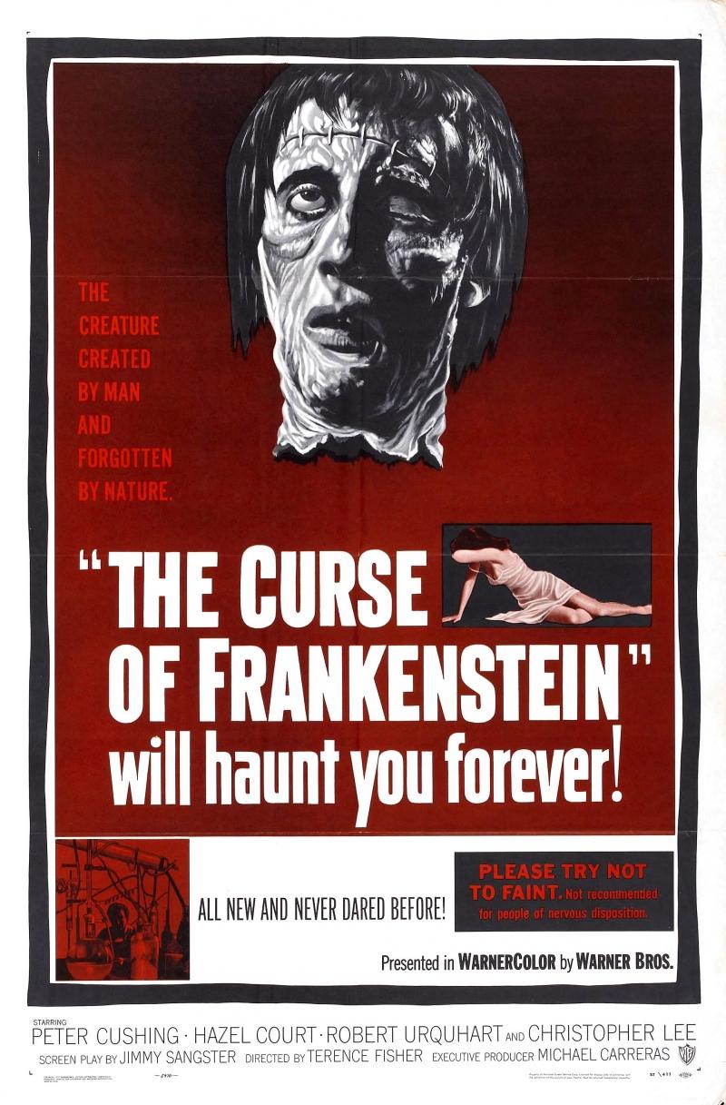 Проклятье Франкенштейна - постер